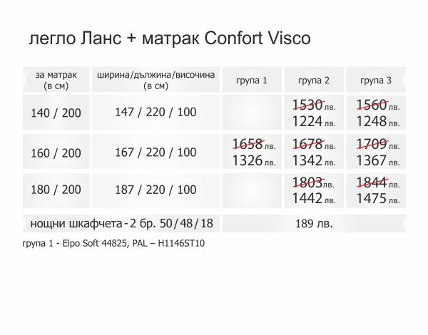 ТС Ланс с матрак Confort Visco